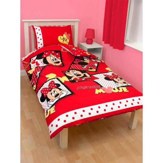 une housse de couette minnie pour votre fille. Black Bedroom Furniture Sets. Home Design Ideas